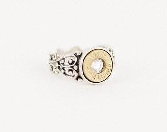 Filigree Silver Bullet Ring