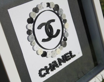Unique Framed Quilled Paper Art: Chanel / Decor