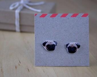 Pug Stud Earrings