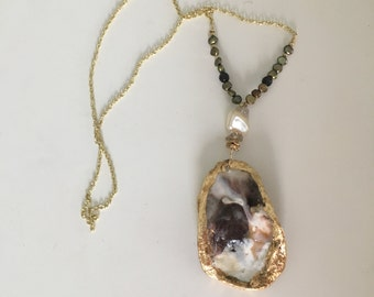 Custom Made Oyster  Shell Necklace