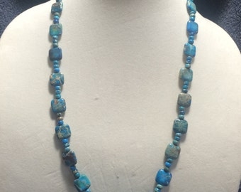 Blue Bead Necklace