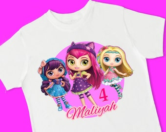 Little Charmers Birthday Tee. Personalized Birthday Shirt with Name, Age or Number. 1st 2nd 3rd 4th 5th 6th Birthday. (15048)