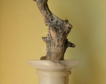 Natural wood sculpture fine art driftwood sculpture art rustic home decor modern decoration living decor office mantel fireplace design wood