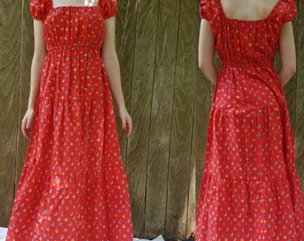 Mr B of califorina 70s maxi dress medium small large depending on desired fit Floral