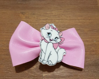 Aristocats marie inspired pink pvc hairbow