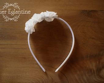 Headband flowers of cotton