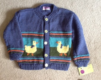 Duckling cardigan size 3T for a boy or girl