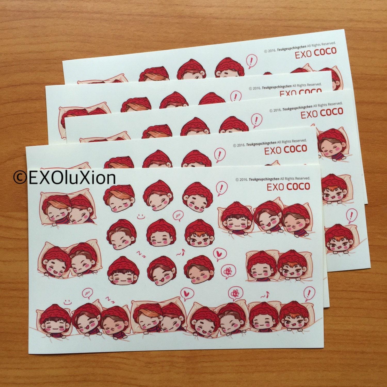 Google themes exo chibi - Exo Fanart Stickers Free Shipping