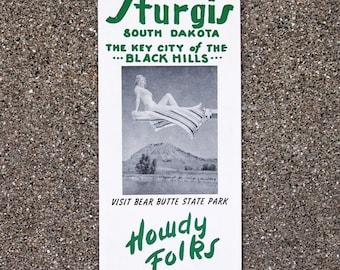 1964 Sturgis Travel Brochure Sturgis SD Free Shipping