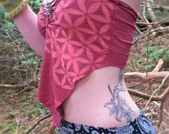 Pointed Pixie Flower Of Life Crop Top