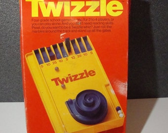 Twizzle Vintage Game by Schaper Kids Marble Game 1976 Complete