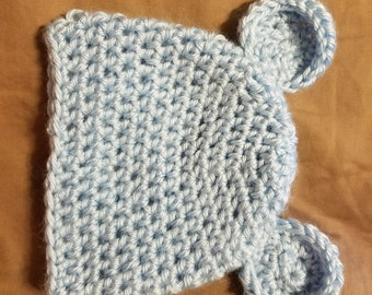 Crochet Baby beanie with ears