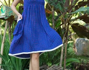Edi Skirt-Dress, Skirt Dress Combo, Versatile Skirt, Boho Skirt, Blue Skirt, 104-121