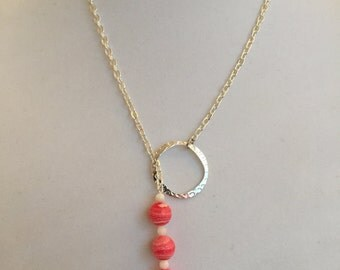 Red Lariat Necklace #325