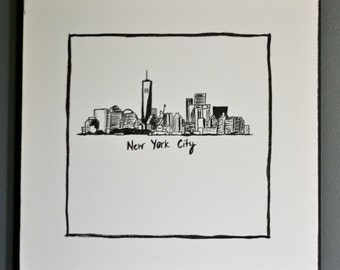 New York City Skyline Painting