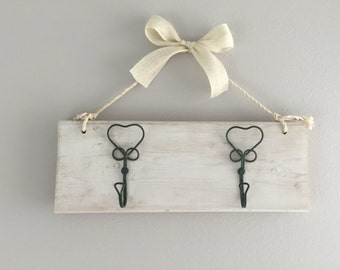 Wooden Sign For Home - Key Hook