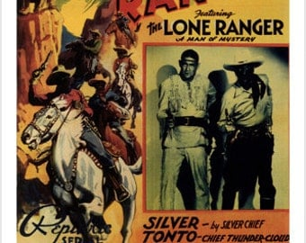 The Lone Ranger Movie Poster By John English Thundering Earth 1938 24x36 New