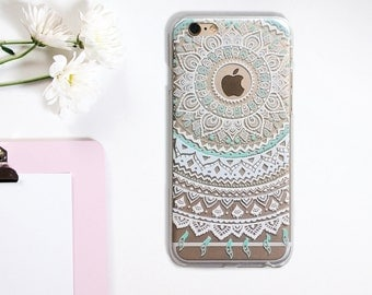 Transparent Mandala Flower Tatoo iPhone 6 6S Phone Case