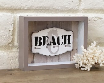 Beach Life Box Sign, Rustic Beach Decor, Beach Bathroom Decor, Beach  Bedroom Decor