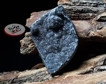 CS0137 - Black Druzy Cabochon