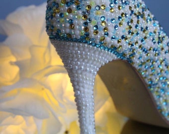 Handmade classy occasion shoes, comfortable shoes, wedding shoes, blue wedding shoes, party shoes.
