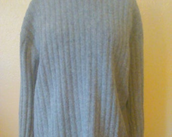 Vintage Lambswool and Angora Rabbit Hair Slouchy Sweater, Oversized Sweater, Wool Sweater
