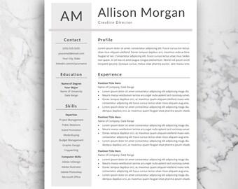 Word Resume Template | Professional CV | Modern Resume Template | Simple and Creative Word Resume Design | Curriculum Vitae Instant Download