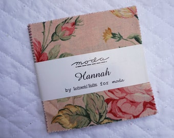 Hannah - Charm Pack - 26 pieces - Sentimental Studios - Moda Fabric