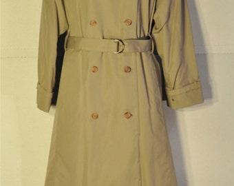 Women's Vintage Tan Trench Coat