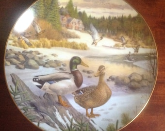 "Collectors Plate ""The Mallard"" by Bart Jerner 1986"