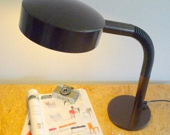 Brown Retro Desk Lamp 70s