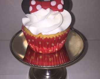 Edible Minnie Mouse Cupcake toppers
