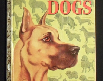 Vintage Children's Book DOGS A Little Golden Book