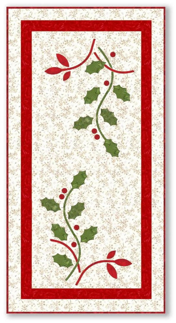 Holly Berries Table Runner Quilt Kit Laundry Basket Quilts