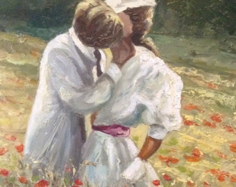 Jeanette Repussard - The Kiss, oil on canvas