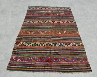 Vintage Kilim Rug 100''x64'' Kilim Rug Home Decor Decorative Rug Vintage Kilim Bohemian Kilim Rug Decorative Kilim Rug Turkish Rug