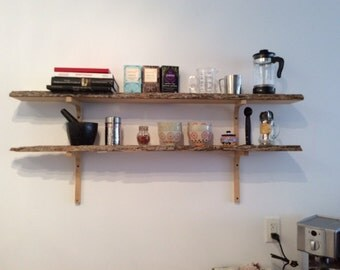 Custom wood shelf