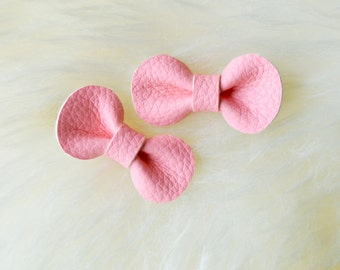 Hair Bow | Toddler hair clip, baby hair clip, girls hair clip, toddler hair bow, baby hair bow, baby bow, pink leather hair bow