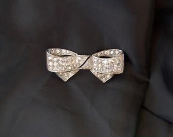 Vintage Brooch Art Deco Platinum Diamond 2, 40ct