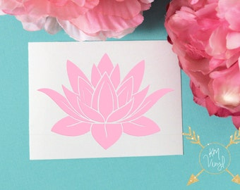 Lotus Flower Vinyl Decal, Laptop Car Decal