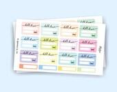 Bill Due Planner Stickers / Pastel Stickers / Sticker Set for use with Erin Condren LifePlanner™ / Minimalist   KA15