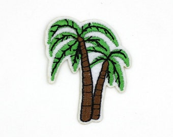 Coconut Palm Patch Sew On / Iron On DIY Patch Embroidered Applique 3.6x4.7cm - RP155