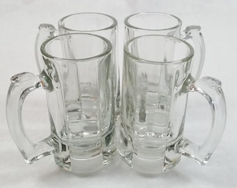 Libbey Heavy 10 Ounce Beer Stein Glasses - 4 Piece Set
