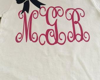 Children's monogram shirt