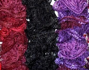 Metallic Sequin Ruffle Scarves