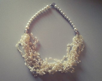 White necklace with white beads