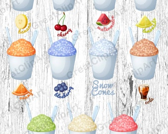22 Snow cones clipart, Sweets clipart, candy clipart,fruits clipart,icecream clipart,food clipart,digital cake,scrapbooking,cupcake  clipart