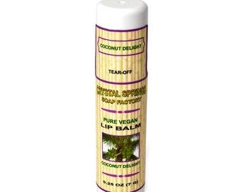Coconut Lip Balm - 0.25 oz, Natural Lip Balm, Vegan Lip Balm, Chapstick Natural, Shea Butter Lip Balm, Cocoa Butter, Coconut Oil