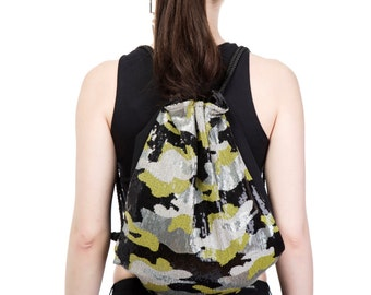 Camouflage Sequin Backpack