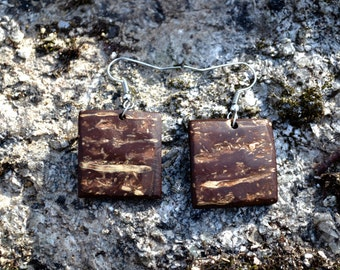Coconut Square Earrings